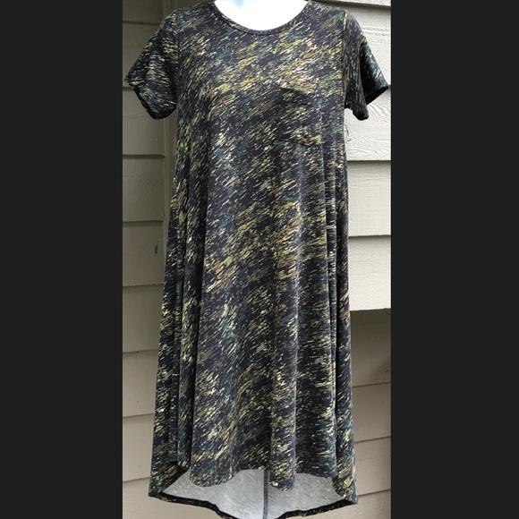 LuLaRoe Dresses & Skirts - Lularoe Camo Carly Dress XXS Army Green Black